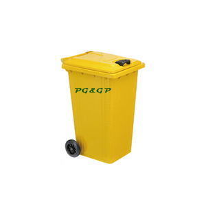 PG-T120L Galvanized Garbage Container with Wheels