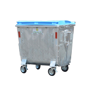 1100L-3 Hot Dip Galvanization Steel Garbage Bin